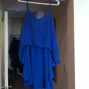 Blue sheer party dress